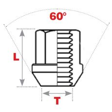 60° Seat Replacement Wheel Nuts (Open End)