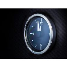 Illuminated Analogue Clock - Stainless Steel Bezel in Dash board - EAC-003