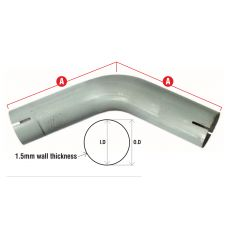 UNIVERSAL 45° BENT EXHAUST PIPE SECTIONS